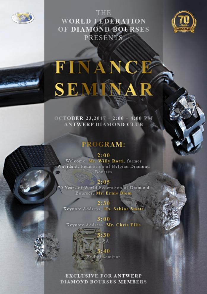 WFDB 70 Years // Finance Seminar, Antwerp | Antwerp World